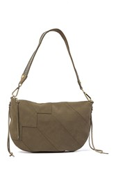 Hobo Cisco Suede Shoulder Bag Sage