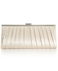 Style And Co. Carolyn Satin Clutch Champagne