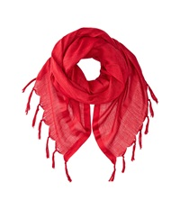 Love Quotes Linen Tassel Scarf Beaujolais Scarves Red