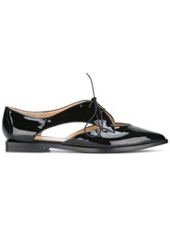 Emporio Armani Cut Out Detail Shoes Women Leather Patent Leather 39 Black