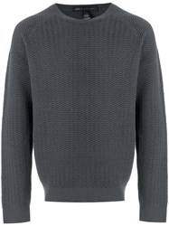Marc Jacobs Ribbed Knit Sweater Grey