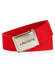 Lacoste Canvas Belt Red