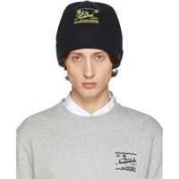 Raf Simons Navy Wool And Cashmere Heroes Beanie