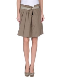Brian Dales Knee Length Skirts Military Green
