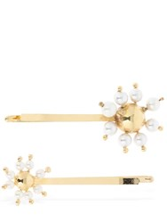Rosantica Set Of 2 Daisy Hair Clips Gold