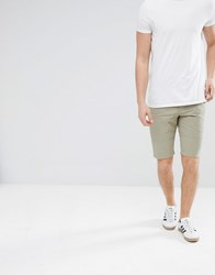 Religion Skater Shorts In Light Green With Raw Edge Mineral Green