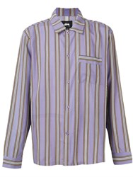 Stussy Striped Shirt Purple