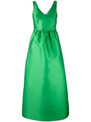 P.A.R.O.S.H. Fitted Waist Evening Gown Green