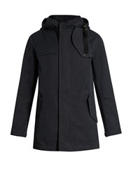 Lanvin Detachable Hood Cotton Gabardine Parka Navy
