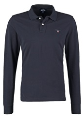 Gant Solid Regular Fit Polo Shirt Marine Dark Blue
