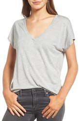 Trouve Women's High Low Dolman Tee Grey Lt Medium Heather
