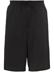 Y 3 Stripe Track Shorts Black
