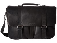 Kenneth Cole Reaction Flap Shot Leather Portfolio Black Computer Bags