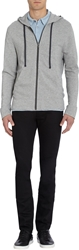 James Perse Zip Up Hoodie Gray