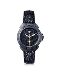 Lancaster Pillola Deco' Black Women's Watch W Diamonds