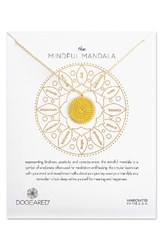 Dogeared Women's The Mindful Mandala Pendant Necklace Gold
