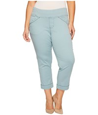 Jag Jeans Plus Size Marion Crop In Bay Twill Nile Women's Casual Pants Blue