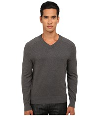 Jack Spade Dexler Cotton V Neck Sweater Light Grey Men's Sweater Gray