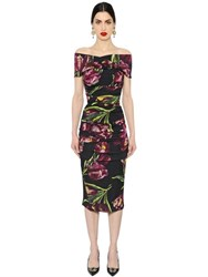 Dolce And Gabbana Ruched Stretch Silk Charmeuse Dress