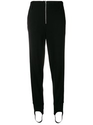 Closed Stirrup Tapered Trousers Black