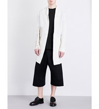 Isabel Benenato Hand Painted Linen Jacket Milk