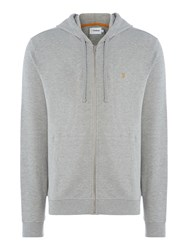 Farah Dale Regular Fit Zip Through Hoodie Grey Marl