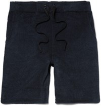 Outerknown Lowtide Cotton Blend Terry Shorts Midnight Blue