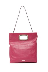 Vince Camuto Large Marti Leather Convertible Clutch Pink 01