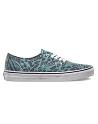Vans Authentic Plimsolls Van Doren Animal Print Blue
