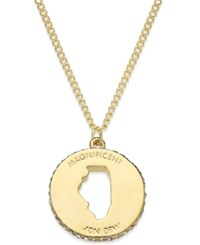 Kate Spade New York State Of Mind Gold Tone State Cutout Pendant Necklace Illinois