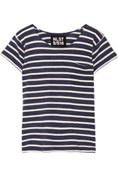 Nlst Striped Cotton Jersey T Shirt Navy