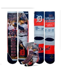 For Bare Feet Miguel Cabrera Detroit Tigers Trading Card Player Crew Socks Navy