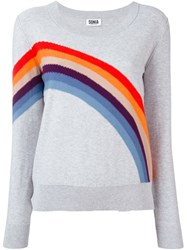 Sonia By Sonia Rykiel 'Rainbow' Print Sweatshirt Grey