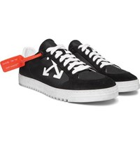 Off White 3.0 Polo Suede Trimmed Shell Sneakers Black