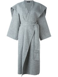 The Row Detachable Belt Coat Grey