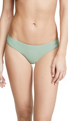 Pilyq Basic Ruched Full Bikini Bottoms Sage
