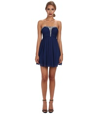 Alejandra Sky Rhinestone Bustier Dress Blue Women's Dress