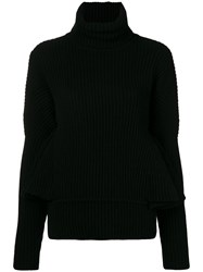Antonio Berardi Ruffle Sleeve Sweater Black