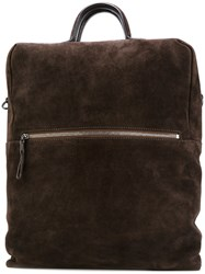 Marsell Structured Backpack Women Leather One Size Brown
