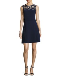 Michael Michael Kors Laser Cut Flower Dress True Navy