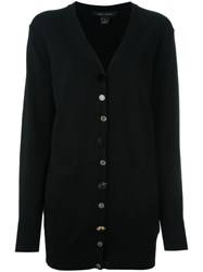 Marc Jacobs Embellished Button Oversized Cardigan Black