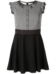 Loveless Contrast Top Dress Black