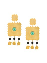 Paula Mendoza 'Square' Earrings Metallic