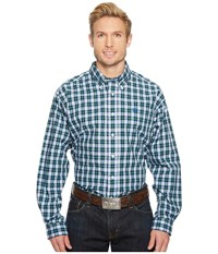 Cinch Long Sleeve Plain Weave Plaid Multicolored Clothing