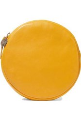 Clare V. Circle Leather Clutch Yellow