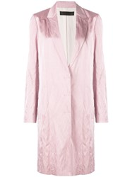 Haider Ackermann Metallic Trench Coast Pink