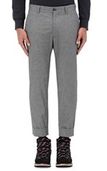 Moncler Gamme Bleu Men's Grisalia Cotton Cuffed Trousers Grey