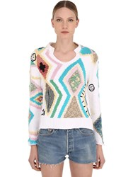 Zadig And Voltaire Printed Knit Sweater Multicolor