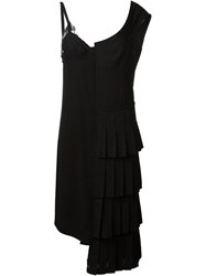 Comme Des Gara Ons Vintage Asymmetric Slip Dress Black