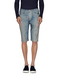 Evisu Denim Denim Bermudas Men Blue
